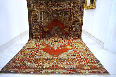 Antique Collector Piece Handknoted Anatol Carpet Old Rug Teppich Tappeto Tapis