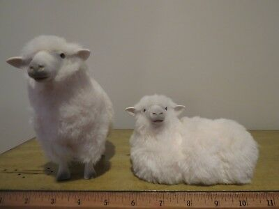 Colin's Creatures - Pair of Matching Sheep Figurines Artist Signed