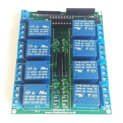 Rk Education Relay PCB with 10A 5/6/12/24V Songle Relay Great for Arduino