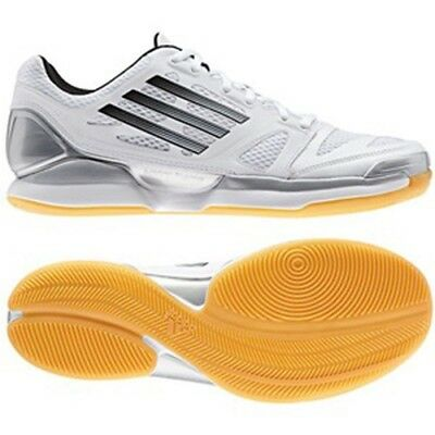 Mens Womens Adidas Adizero Crazy Volley Pro White Shoes Lace Up Trainers