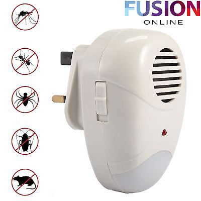 Electronic Plug In Pest Control Repeller Rodent Mouse Mice Rat Spider Insects