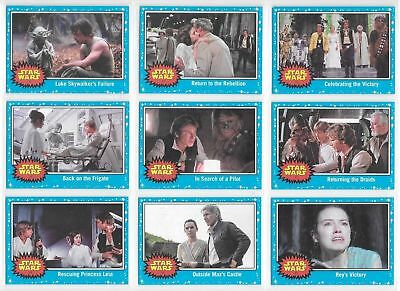 Star Wars - Journey to The Last Jedi - Blue - Complete Card Set (110) 2017 - NM