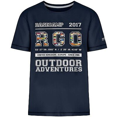 (9-10 Years, Navy College) - Regatta Children's Bobbles Ii T-Shirt. Huge Saving