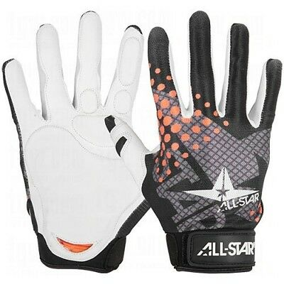 (Large, white/black/orange) - All-Star System 7 Youth Protective Catcher's