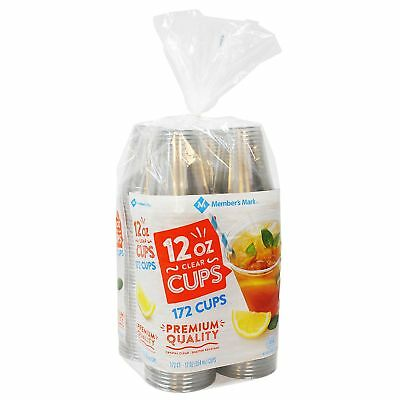 Clear Plastic Cups 12 oz. Disposables Drinkware 172 ct. Cold Beverages