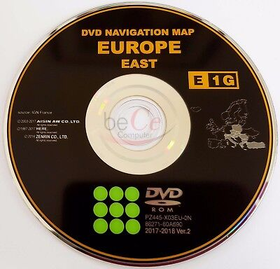 Toyota Lexus ORIGINAL Navigation DVD E1G 2018 East Europe Ost Europa Update Map!