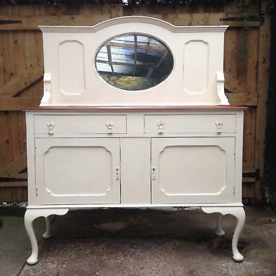 "Edwardian Mahogany ""French Painted"" Mirror Backed Sideboard / Dresser"