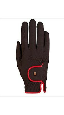 (7, black-red) - Roeckl - ladies contrast riding gloves LONA. Delivery is Free