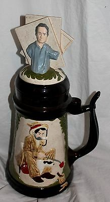 Vintage 1982 Sepco Norman Rockwell Very Large Collectable Ceramic Stein! Rare!!