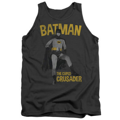 Batman 60s TV Show CAPED CRUSADER Licensed Adult Tank Top All Sizes