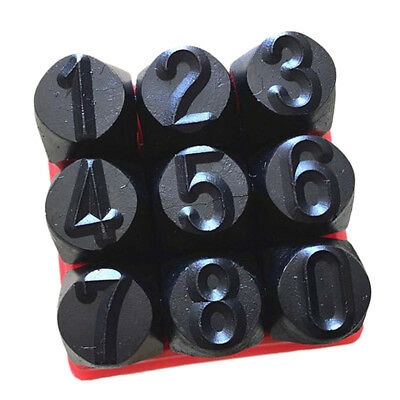 9pc 6mm Number Stamp Punch Set for Jewel Making/Steel Stamp Die Punch/Wood