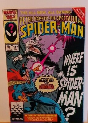 The Spectacular Spider-Man #117 (August 1986 Marvel)