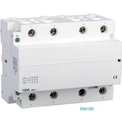 100 Amp Contactor Normally Open NO 100A, 4 Pole 120V 110v Coil Lighting Power AC