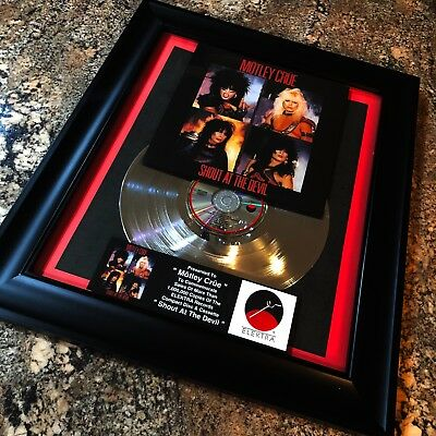 Motley Crue Shout At The Devil Platinum Record Album Disc Music Award RIAA MTV