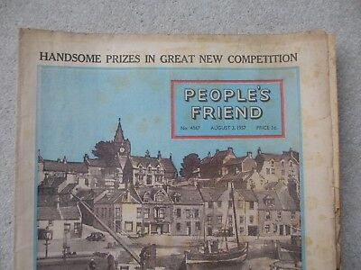 People's Friend August 1957 Campbell Kerr Pittenweem Fife 50's Vintage magazine