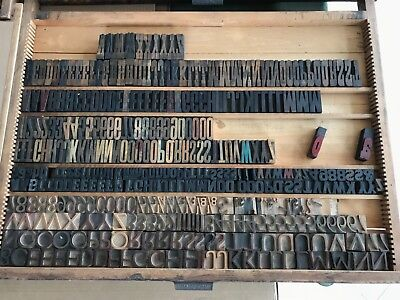 Wood letterpress type
