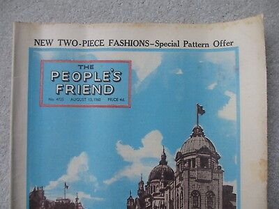 People's Friend August 1960 Campbell Kerr Aberdeen Scot'nd 60's Vintage magazine
