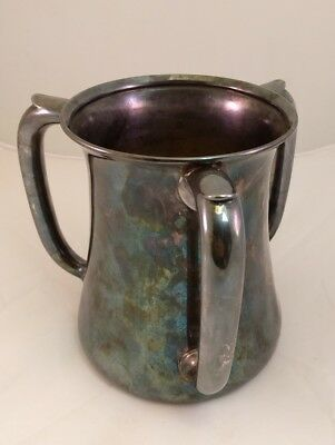 Antique Reed & Barton Silverplated 3 Handled Loving Cup Trophy Unengraved
