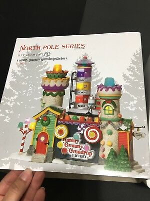"Department 56 North Pole Series ~ ""Yummy Gummy Gumdrop Factory"" Defect 1120"