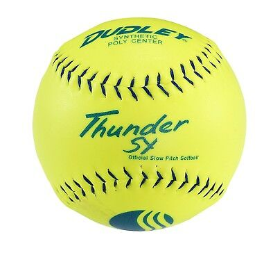 (28cm ) - Dudley Blue Stitch USSSA Thunder SY Synthetic Yellow Slow Pitch