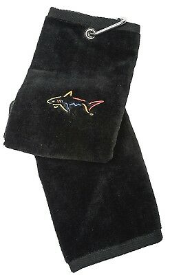 (Black) - Glove It Greg Norman Men's Towel. GloveIt. Free Delivery
