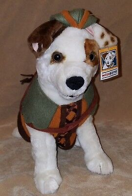 WISHBONE pbs tv JACK RUSSELL terrier PLUSH puppy DOG stuffed toy Robin Hood Tag