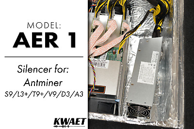 █▓▒░ KWAET AER 1 EXTRA QUIET AntMiner Sound Proof Noise Canceling Silencer ░▒▓█