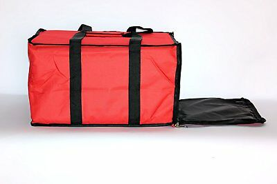 """Nylon Insulated Pizza / Food Delivery Bag 20"""" X 20"""" X 12"""" for Five 16"""" Pizza"""