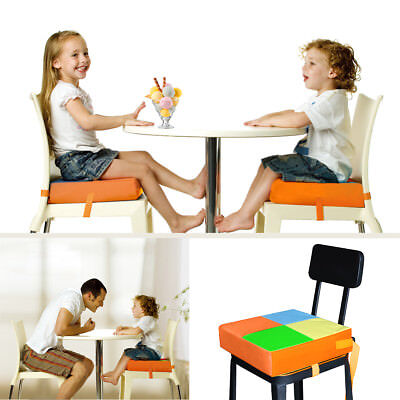 Adjustable Kid Toddler Increased High Chair Seat Pad Safe Booster Dining Cushion