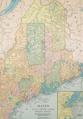 147 MAPS MAINE STATE history atlas antique TREASURE HUNTING old ...