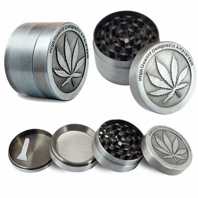 4 Piece Magnetic 2.5 Inch Tobacco Herb Grinder Spice Aluminum Crusher With Scoop
