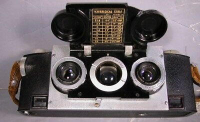 Vintage Realist Stereo Camera Leather Case David White 35mm 3.5 Anastigmat Works