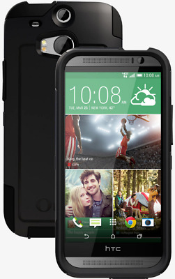 OtterBox Commuter HTC One M8 Authentic Protective Hard Case Cover - Black - NEW