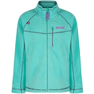 (Size 11 - 12, Pale Jade) - Regatta Children's Marlin V Fleece. Shipping is Free