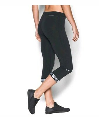 Under Armour Charged Womens XS Capri logo yoga workout pants 3/4 tights