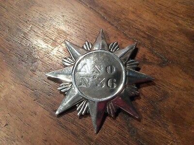 Rare silver star Badge / Buckle, Sheffield 1832-33
