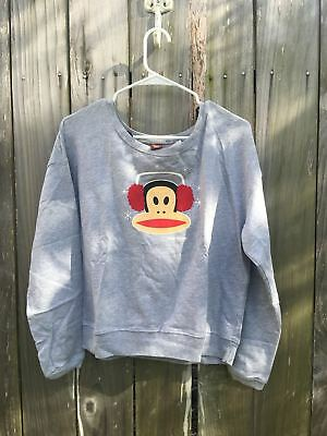 NWT Paul Frank The Julius Sweatshirts Ear Muffs in Heather Grey Rare To Find