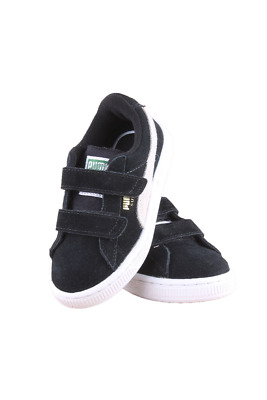 Kids Toddler Puma Suede 2 Straps Kids 356274-01 Black White