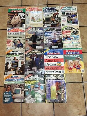 Lot of 15 Vintage FAMILY COMPUTING  + HOME OFFICE COMPUTING MAGAZINES  1984-1988