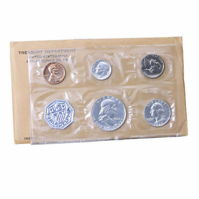 1962 Proof set Original Envelope 90% Silver US Mint (OGP) - 5 Coins