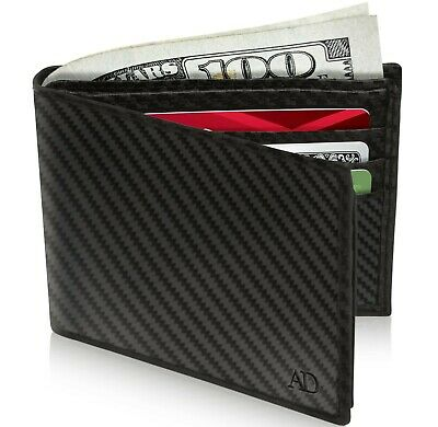 New Genuine Leather Bifold Wallets For Men With Flip-Up ID Window RFID Blocking