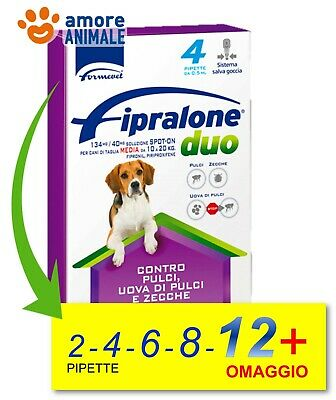 Fipralone DUO Cane 10-20 kg Tg. Media  2- 4- 6- 8- 12 pipette = Frontline Combo