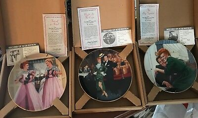 Lucille Ball/I Love Lucy Hamilton Collection Plates - Lot of 3
