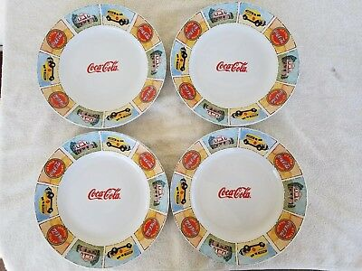 Coca Cola *good Ole Days* Dinner Plates *set Of 4