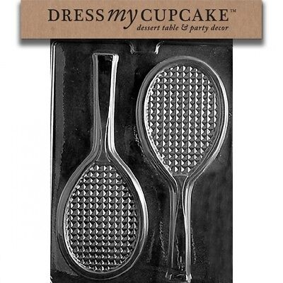 Dress My Cupcake DMCS031 Chocolate Candy Mould, Tennis Racquet. Huge Saving