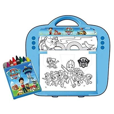 Paw Patrol on a Roll Art Desk (Multi-Colour). Free Delivery