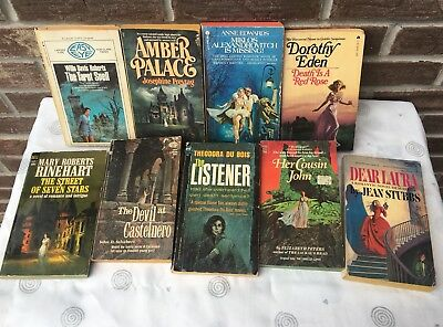 Lot 9 Vintage GOTHIC Romance Suspense Intrigue Mystery Novels Some Rare All Good