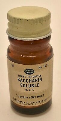 Sharp & Dohme Saccharin Tables and Bottle