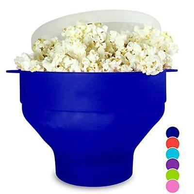 New Silicone Microwave Popcorn Bowl Popper Maker Collapsible Kitchen Tools D