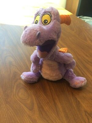 WALT DISNEY WORLD Epcot Figment Purple Dragon Plush Stuffed Animal Clean